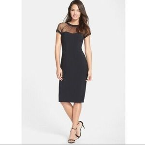 black cocktail dress - maggy london illusion